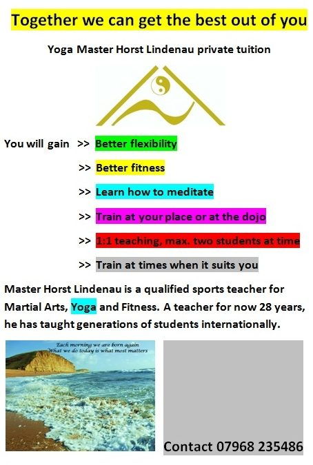 Yoga teacher available for private tuition in Bridport