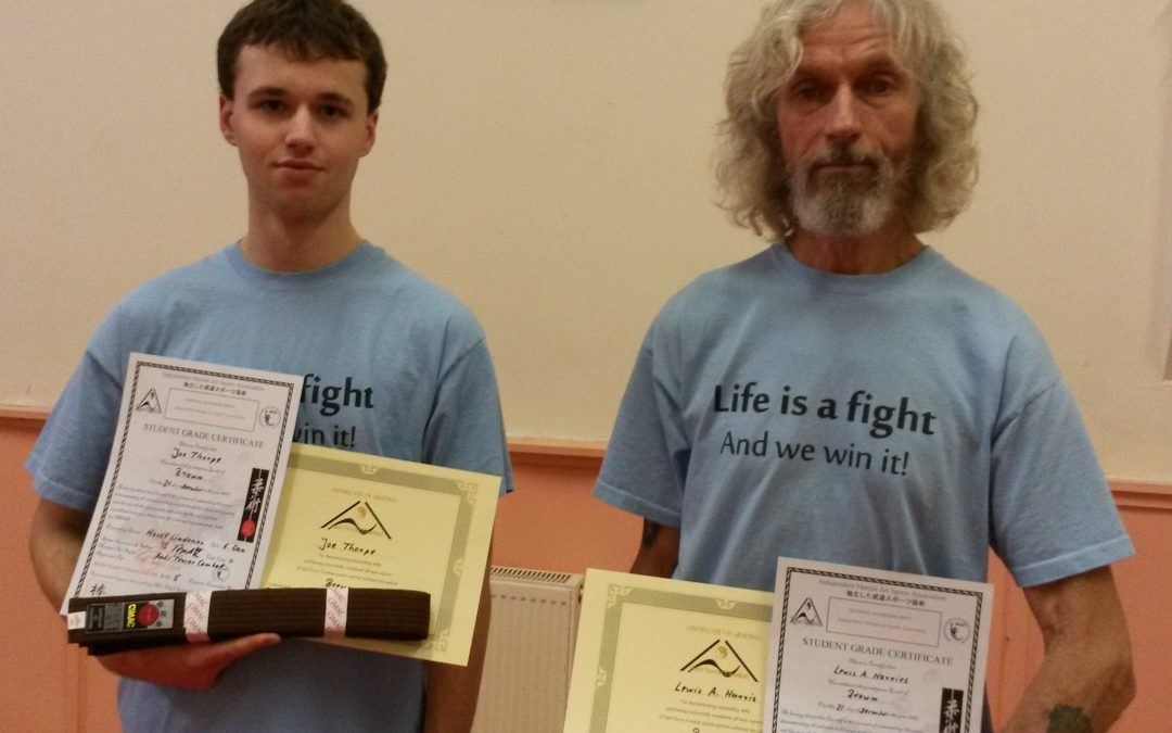 ATC self defence system with two new brown belts