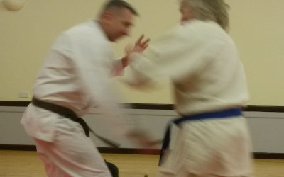 1st Kyu brown belt for Lewis