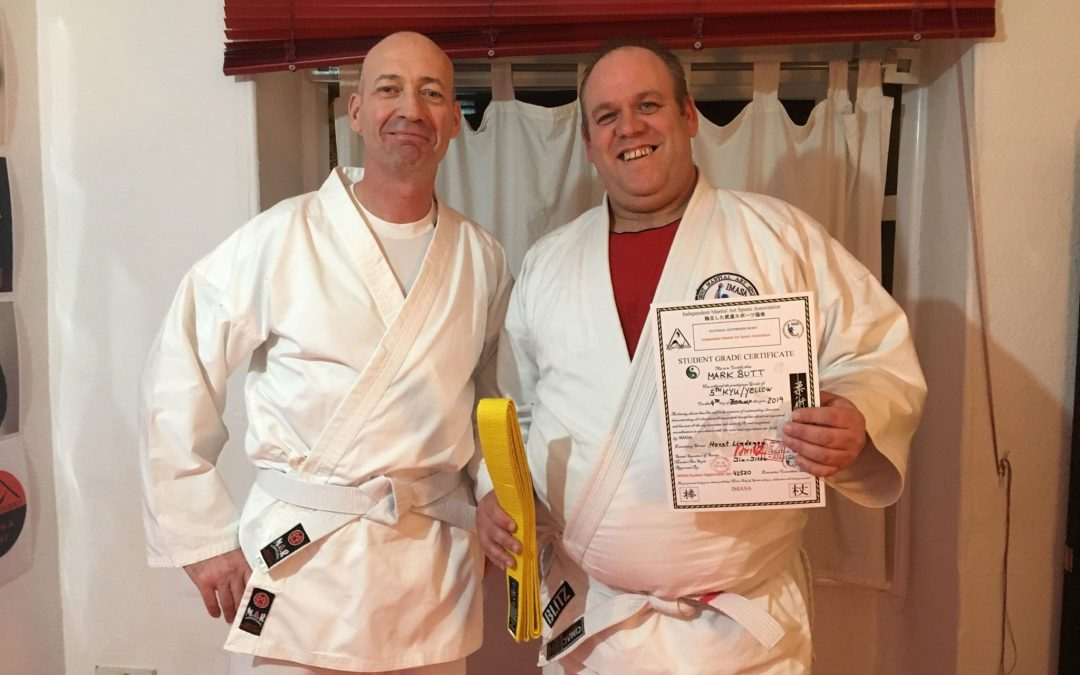 Congratulation to your 2nd grading Mark Butt from Bridport