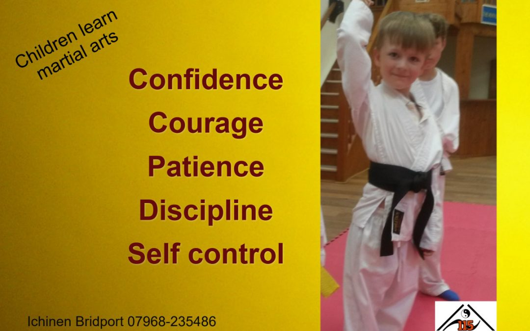 Children in Bridport learn martial arts